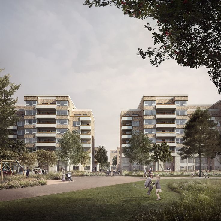 CGI Visualisation of Grahame Park scheme by Mæ