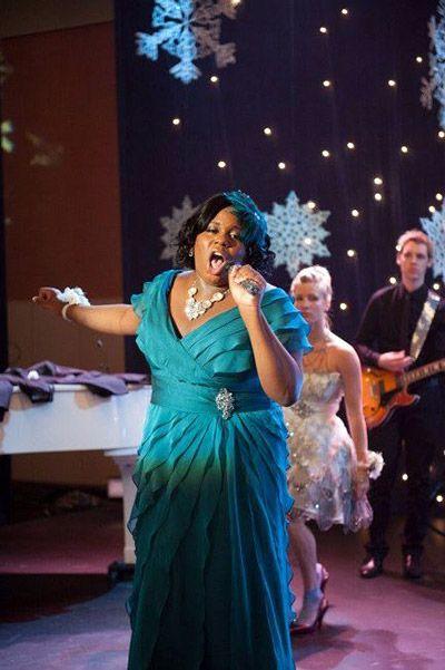 Alex Newell femulates on television's Glee (2009).