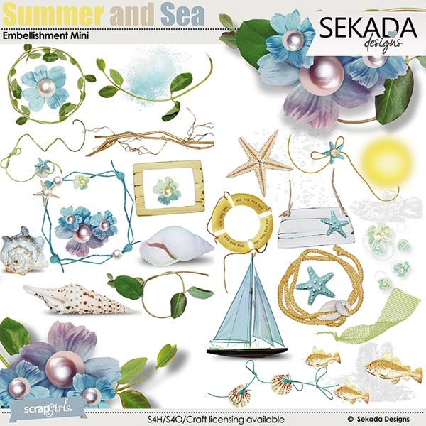Summer And Sea Embellishment Mini