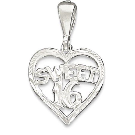 a53442b0bb5a IceCarats 925 Sterling Silver Heart Sweet Sixteen Girl 16 Birthday Pendant  Charm Necklace Special Day Fine