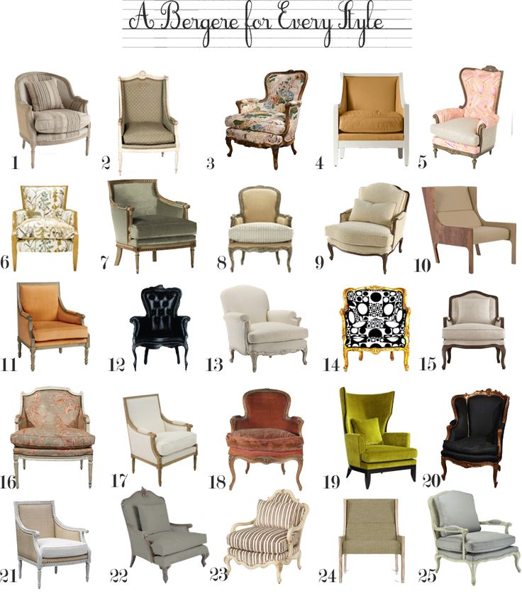 A Bergere Chair for Every Style-- need a chair like these for shoots!!!