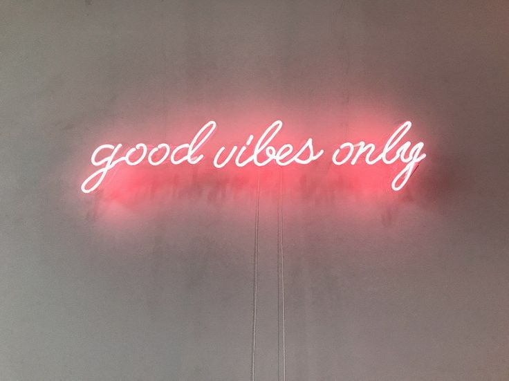 New Good Vibes Only Neon Sign For Bedroom Wall Decor Artwork Light With Dimmer