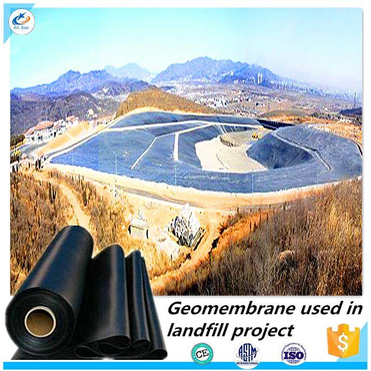 Top qualité étang réservoir de revêtement membrane Lisse et Texturé ASTM 1.0 MM PEHD Géomembrane