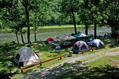 Camping delaware river - Abb roller