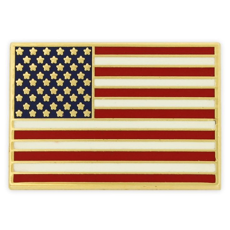 PinMart's Gold Plated Made in USA Rectangle American Flag Enamel Lapel Pin ** Be sure to check out this helpful article. #Jewelry