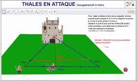 Teorema de Thales con geogebra