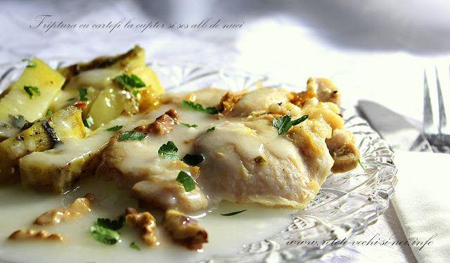 Caietul cu retete vechi si noi: Pulpa de pui la gratar cu sos de nuci si cartofi c...