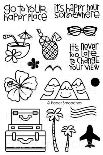 Paper Smooches Stamps: Get Outta Town