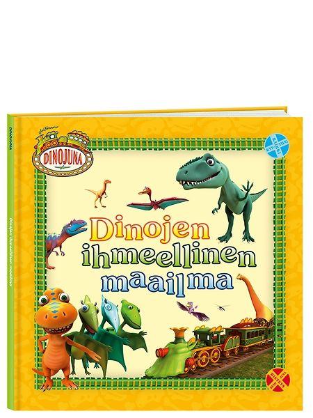 Dinojuna, Dinojen ihmeellinen maailma -kirja vastaa moniin kysymyksiin. Minkä kokoisia dinosaurukset olivat? Mitä ne söivät? Osasivatko dinosaurukset uida tai lentää? Hauska kirja tutustuttaa lapset dinosauruksiin ja Dinojuna-ohjelman veikeisiin hahmoihin. Tervetuloa ikimuistoiselle junamatkalle esihistorialliseen aikaan!