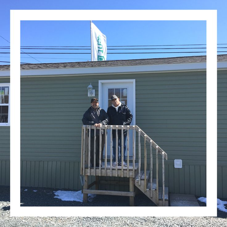 Congrats Tom & Maurice! We wish you many years of happiness in your new Kent Mini Home!