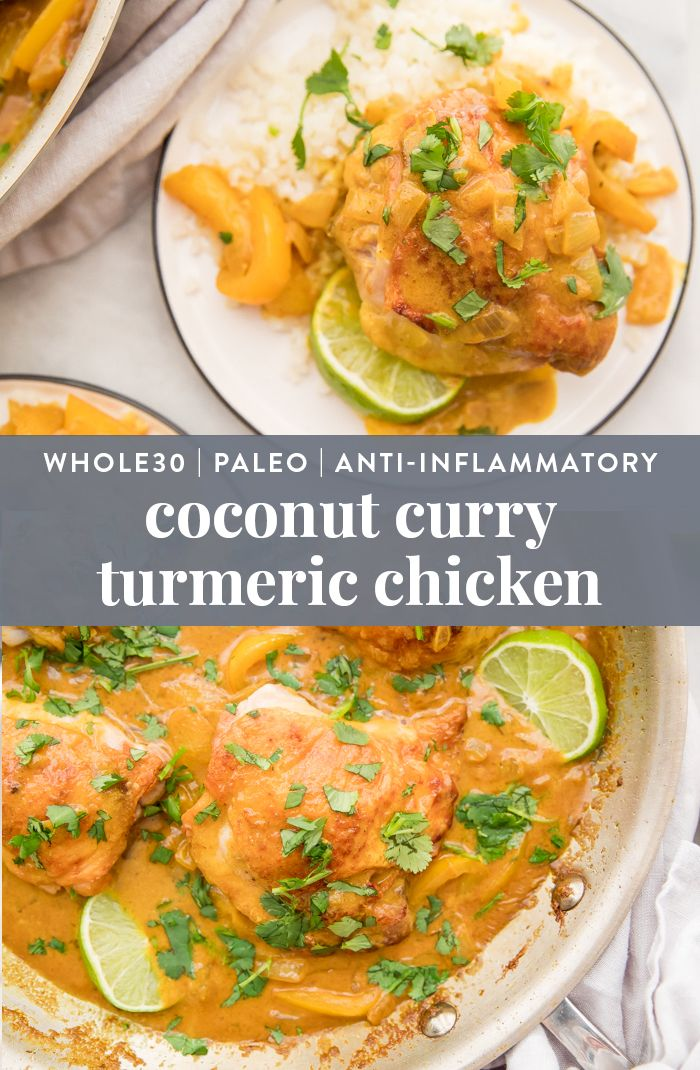 Coconut Curry Turmeric Chicken Whole30 Anti Inflammatory