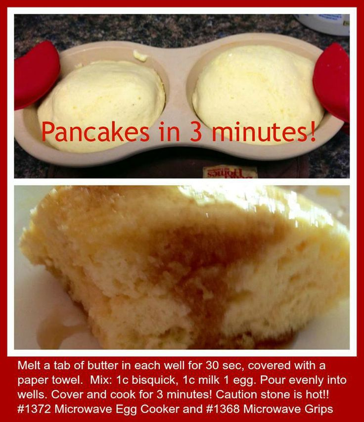 3 Minute Pancakes in the Microwave! Thank you Pampered Chef for another fast and easy way to make breakfast!!!! The Pampered Chef® - www.pamperedchef.biz/trishaquinn