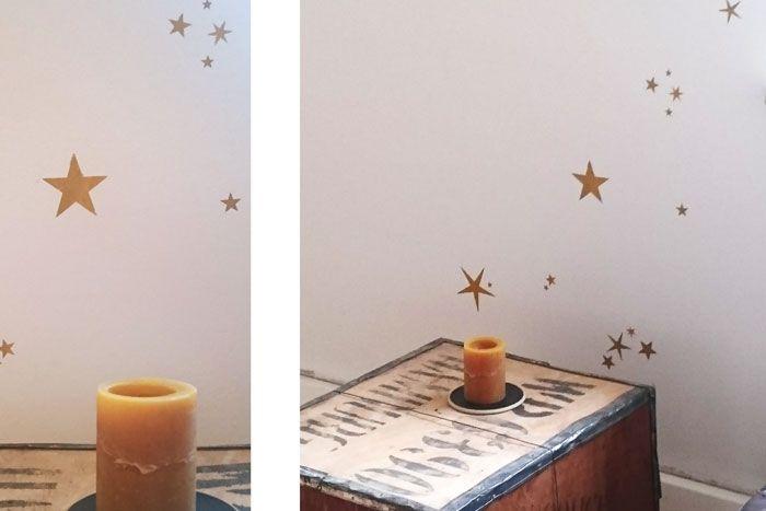 Sterne an die Wand malen – Einfache Anleitung mit Wandschablone