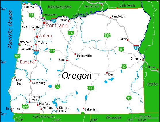 Complete map of oregon oregon state beekeepers for Where to go in oregon