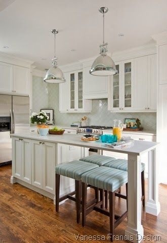 Knock out wall and extend into dining room client project - Kitchen island in small kitchen designs ...