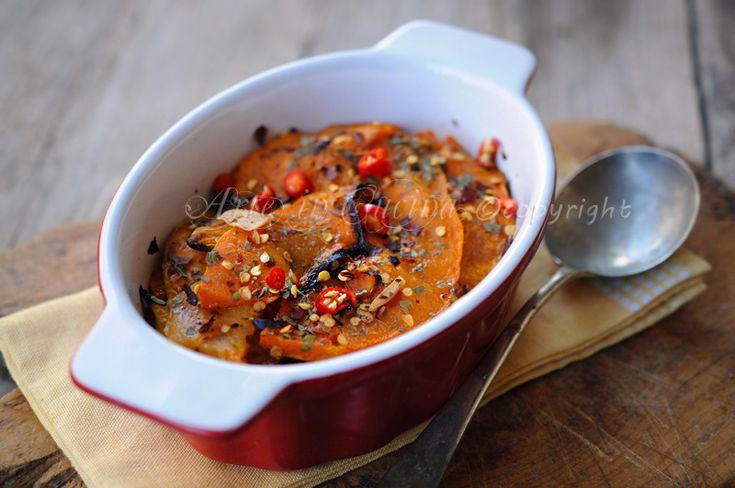 #Zucca al forno #arrostita piatto #leggero