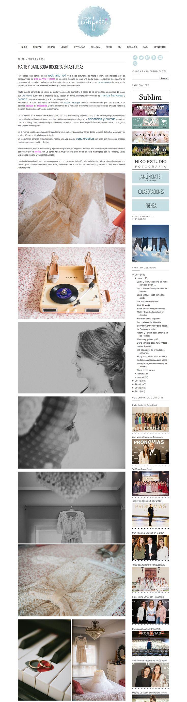 Featured in A todo confetti || http://www.atodoconfetti.com/2015/03/boda-rockera-rock-roll-wedding.html