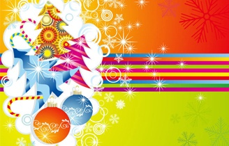 Happy Christmas Card Vector Illustration