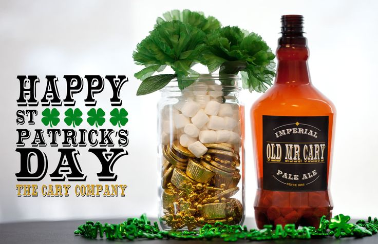 Happy St. Patricks Day from The Cary Company!  Here is a fun DIY decorative idea. Cheers!