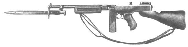 "Ametralladora Thompson M1923 ""Military model"" , experimental, para munición  Remington-Thompson del .45."