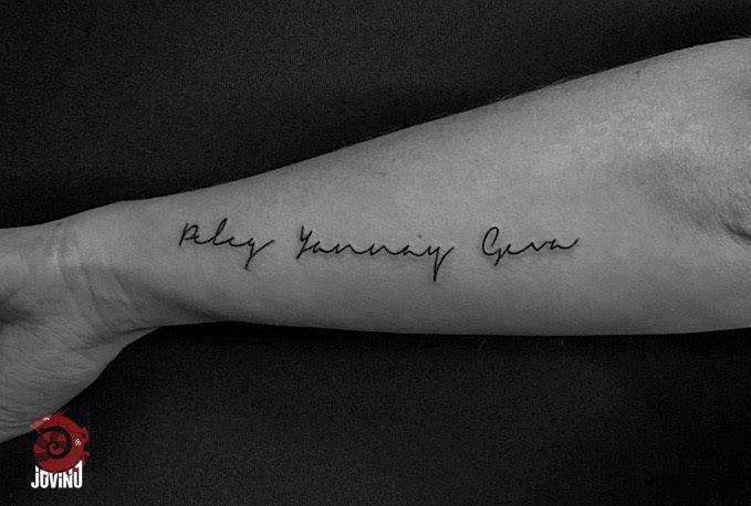 Cursive Writing Tattoo Arm Writing Tattoo Writing Tattoos Tattoos