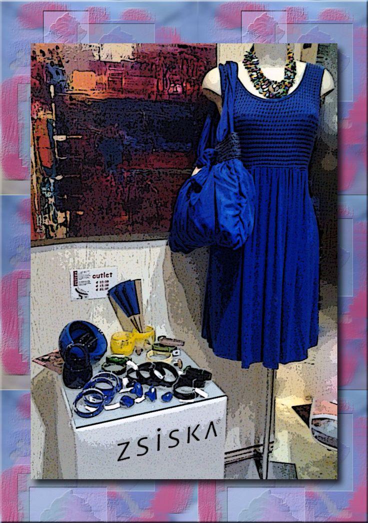 """collana """"zuccherina"""" abito in blu borsa bjiou """"ZSISKA"""""""