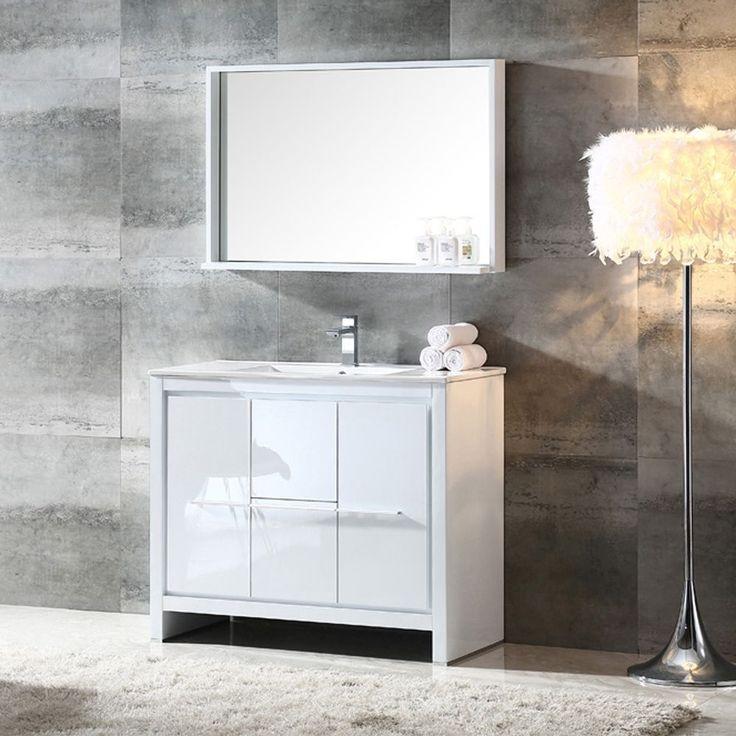 Fresca Allier 40-inch Modern Bathroom Vanity with Mirror