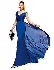 Pronovias apresenta o seu vestido de festa Zubak da coleção Compridos 2013. | Pronovias