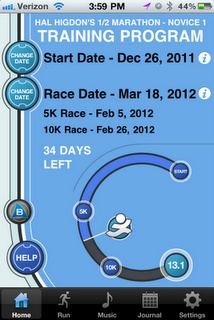 Great training apps for a half marathon!  (awesome!  Hal higdon is on an app?!)
