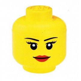 Contenitore Lego testa testa apribile portatutto - 24x24x27 - storage head lego