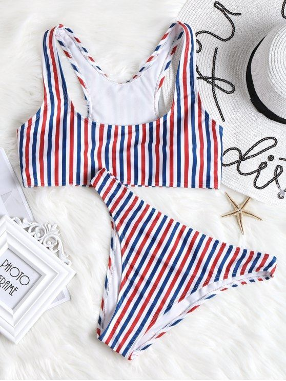 cbec1f786afb4 Up to 80% OFF! Colorful Striped High Cut Bikini Set. #Zaful #Swimwear  #Bikinis zaful,zaful outfits,zaful dresses,spring outfits,summer  dresses,easter,super ...