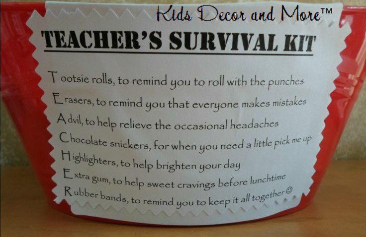 Teacher Survival Kit Poem School Culture Pinterest