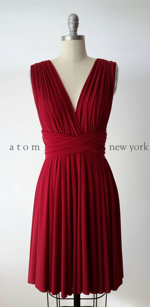 Infini rouge rubis robe Convertible Wrap Multiway formelle robe des demoiselle d