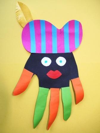 Zwarte Piet van hand