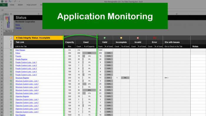 Blazing Fast Risk Template in Excel Risk Management Template - risk management spreadsheet template