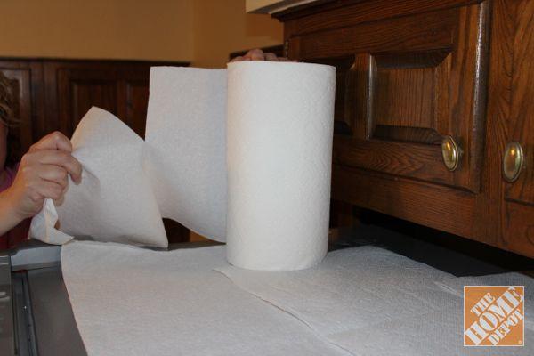Čištění Tipy: Papírové ručníky na horní části lednice