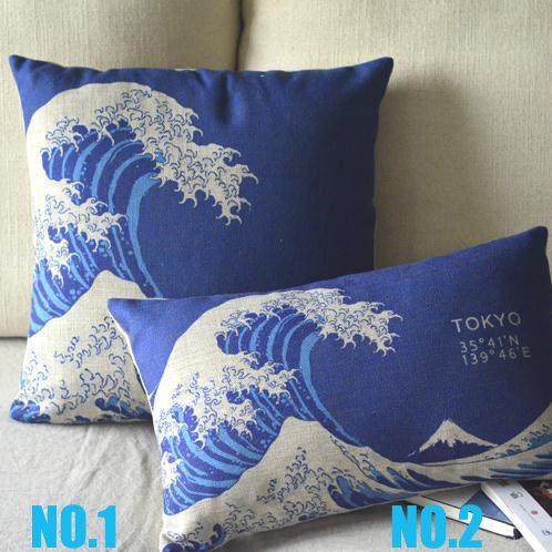 japonais ukiyo  e mont fuji 2 choisir 1 canapé oreiller couvercle 1 pcs gratuit shipping en gros dans Coussin de Maison & Jardin sur AliExpress.com | Alibaba Group