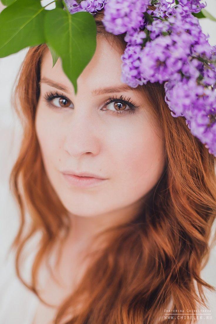Lilac, girl, portrait, photo session, photo, blue, look, photostudio