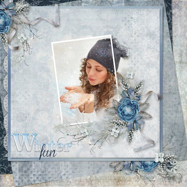 Winter Solstice by Studio Laitha (Laitha's Designs) and Veronica Spriggs. Template Heartstrings Scrap Art. Photo per kind favour of Anastasia Serdyukova Photography.