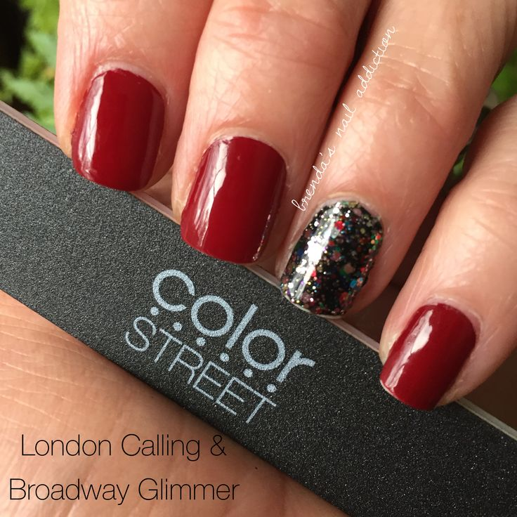 London Calling W Broadway Glimmer Accent Nail Color Street Nails