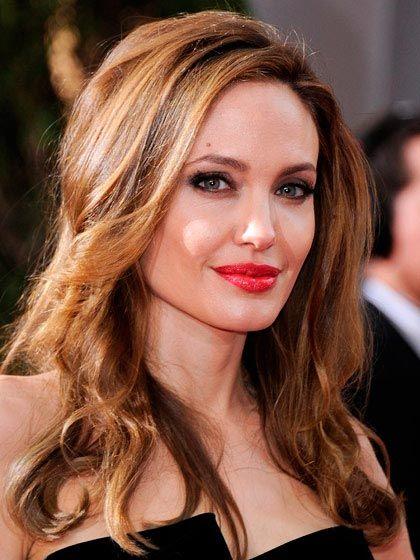 Best Hair Color Ideas for Brunettes Angelina Jolie's Honey Brown Hair Color