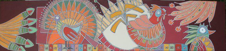 ECHANDO VUELO ACRÍLICO SOBRE MDF 18 X 80CM 2014
