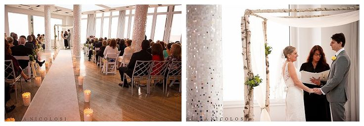 Indoor Wedding Ceremony At The Allegria Hotel In Long