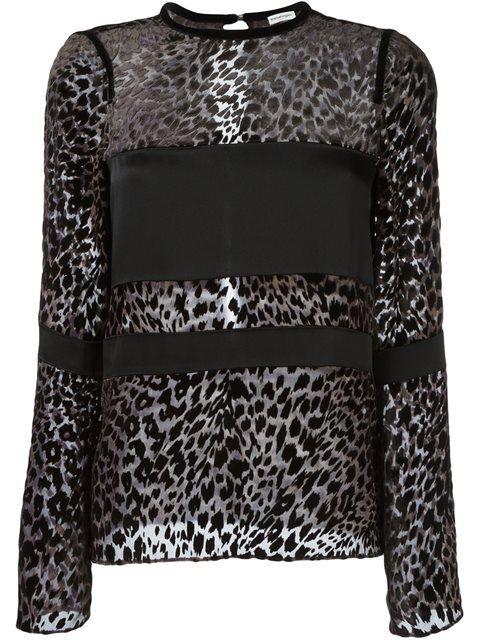 Emanuel Ungaro блузка с леопардовым принтом