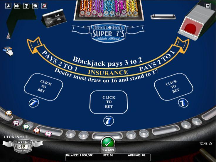 BlackJack Super 7s Multihand » FreeSlot Online » Click And