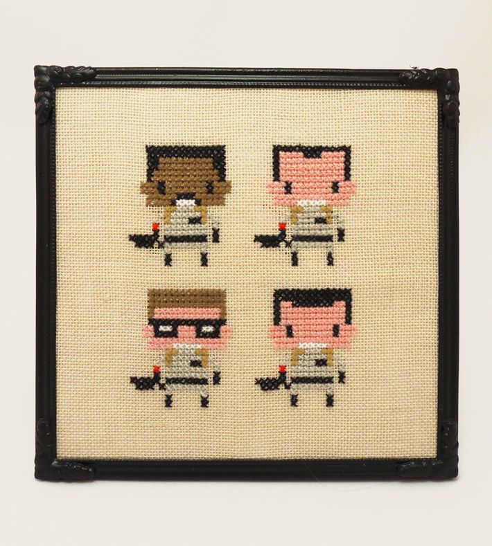 'Ghostbusters' - Geeky fan art gone retro ♥ You can buy this piece at our webshop www.artrebelscom #artrebels #art #craft