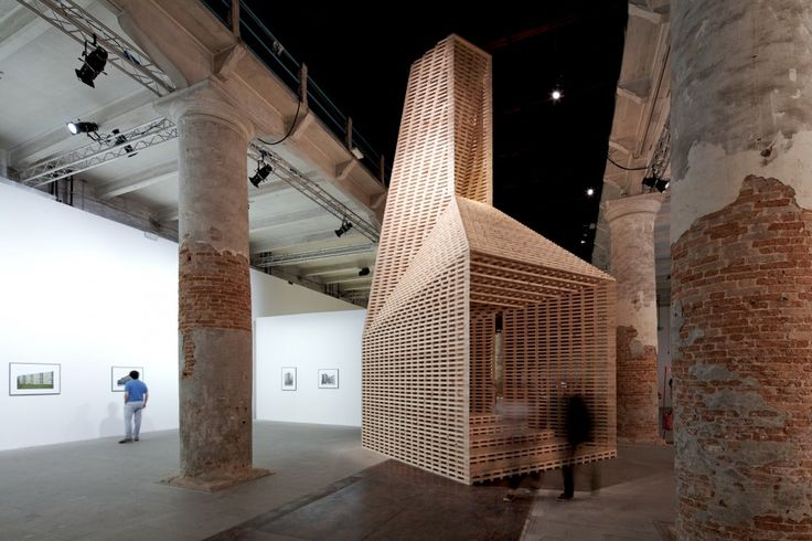 Venice Biennale 2012: O'Donnell + Tuomey. Wooden sculpture in an amazing setting.