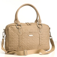 Storksak Elizabeth Quilted Fawn. For the uber stylish mumma and pappa!     $599.00    Available now on www.dollface.com