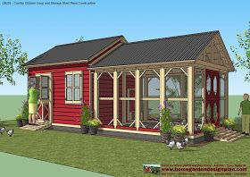 Chicken coop/garden shed combo: home garden plans: CB201 - Combo Plans - Chicken Coop Plans Construction + Garden Sheds Plans - Storage Sheds Plans Construction