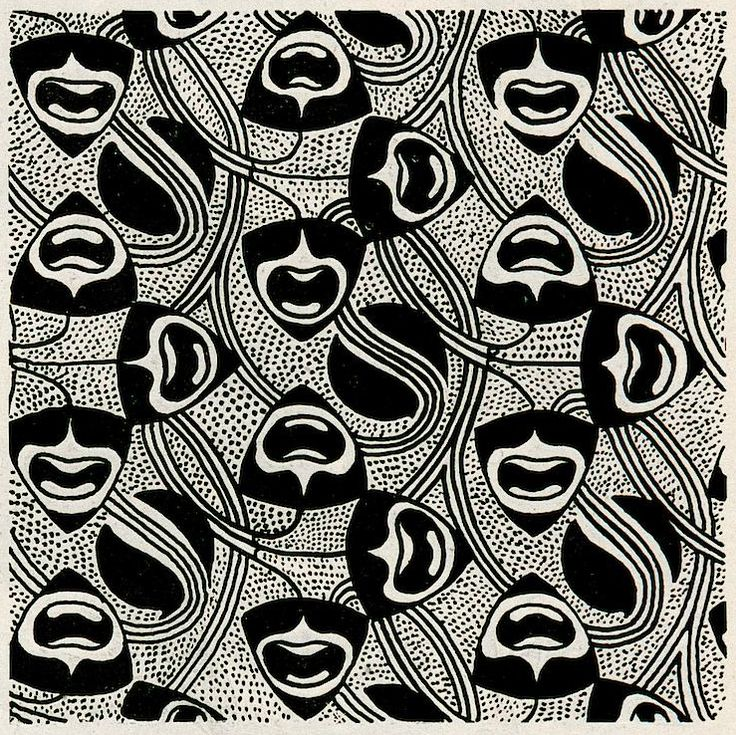 Koloman Moser, pattern Flächenmuster, from the magazine Ver Sacrum, 1899. Early op or pop art. Via University of Heidelberg